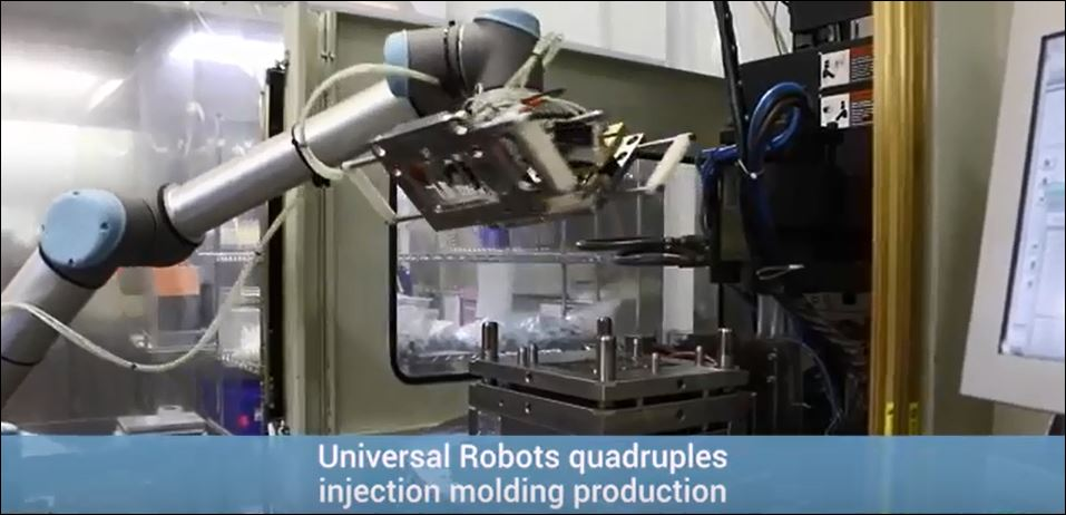Universal Robot Quadruples Injection Molding Production