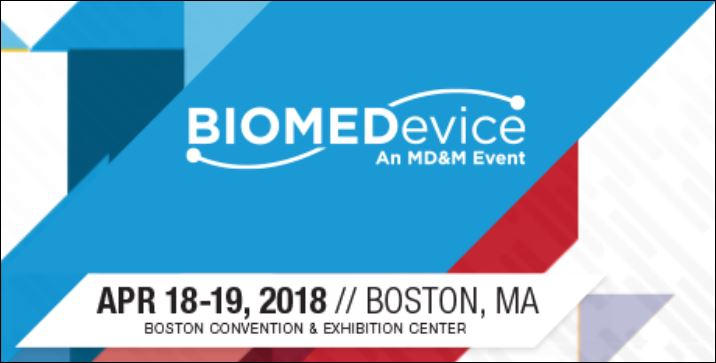 Come see us at the Boston BIOMEDevice